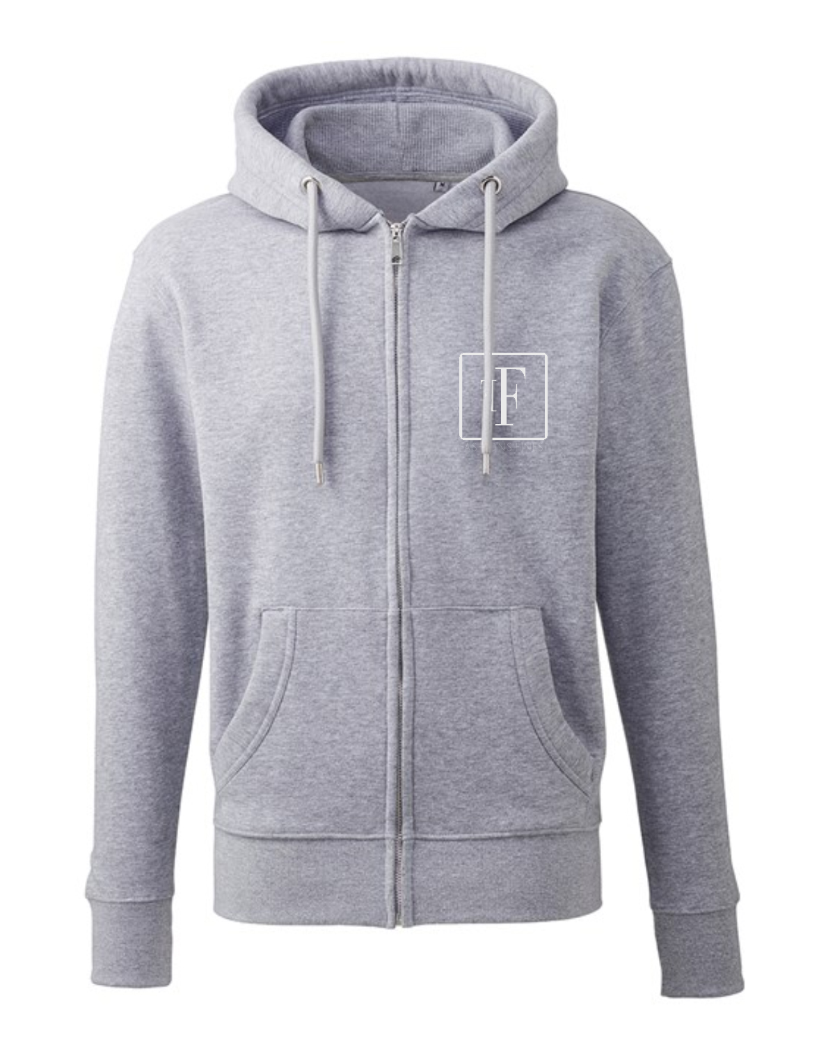 Fashion Finest Zip Grey Hoodie