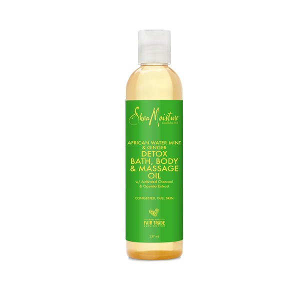 Shea Moisture African Water Mint Ginger Detox Bath Body Massage Oil result