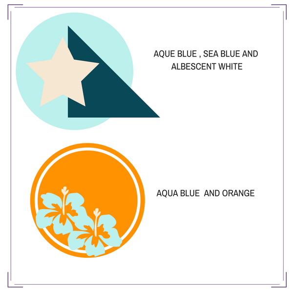 Aque Blue Sea blue and white result