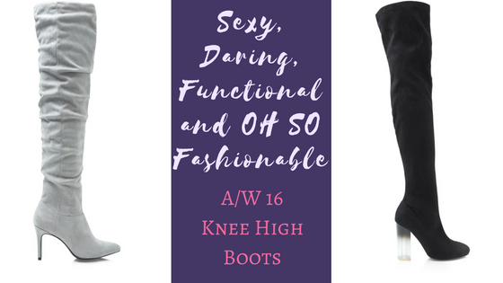 Sexy daring functional and OH SO fashionable A2FW 16 Knee High Boots