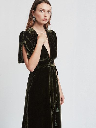 how to style velvet dress