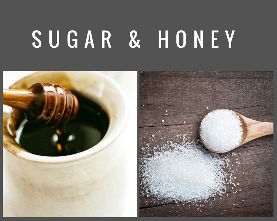 sugar and honey
