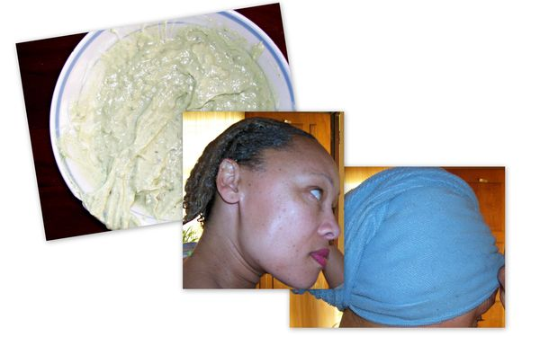 mayonnaise and avo mask