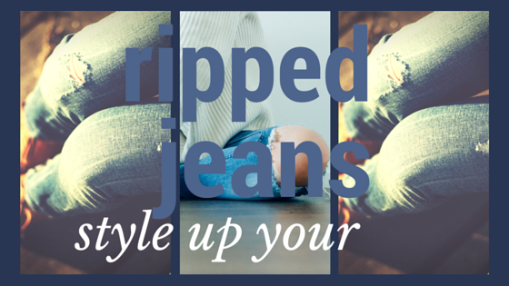 style up your ripped jeans