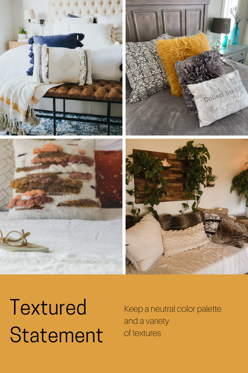textured statement throwpillows