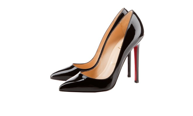 Louboutins Black Patient shoe