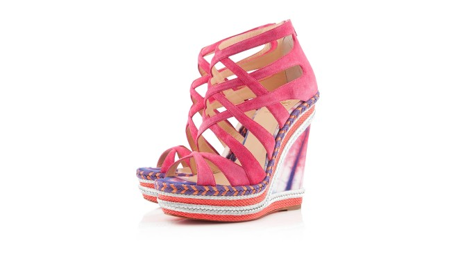 Louboutins pink strappy