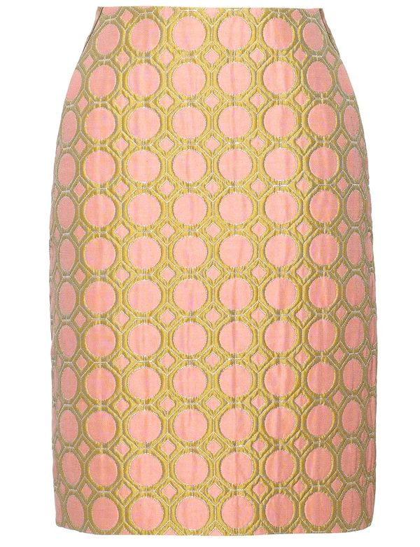 fashion_Mantu_pink_spot__jacquard_pencil_skirt_fashions_finest