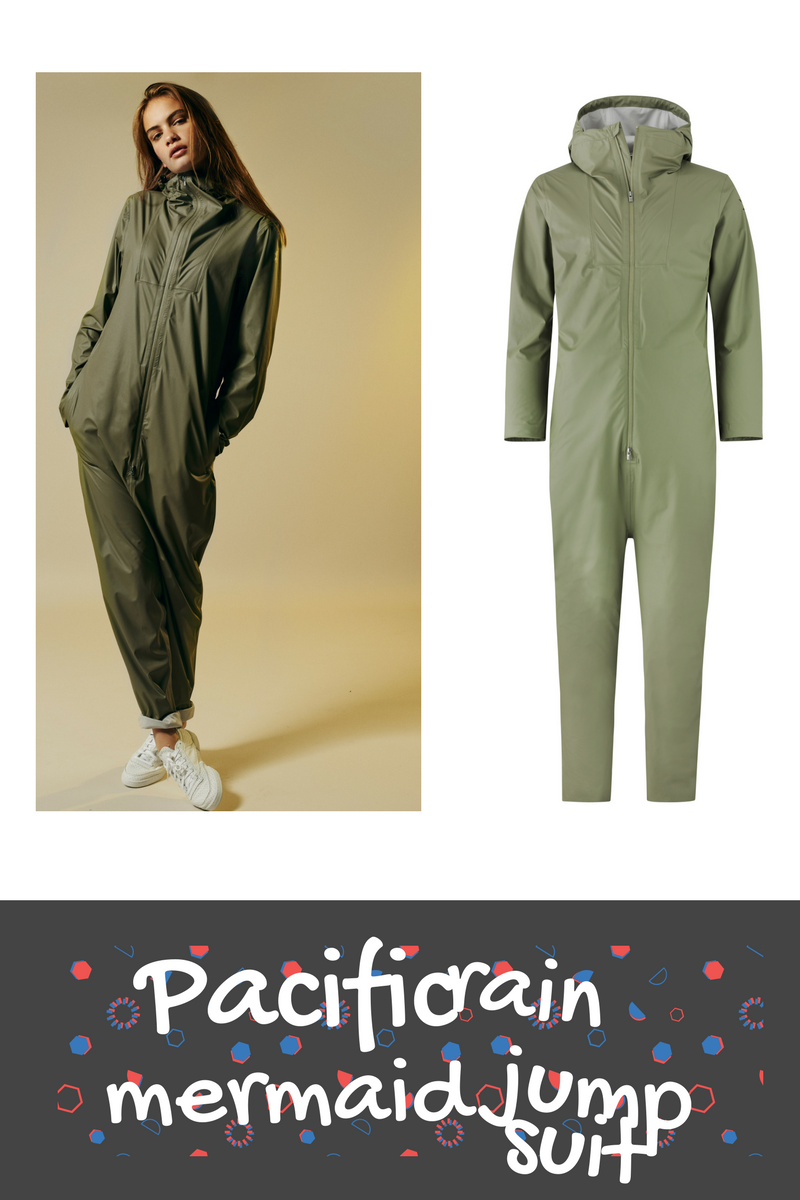 Pacific mermaid rain jumpsuit