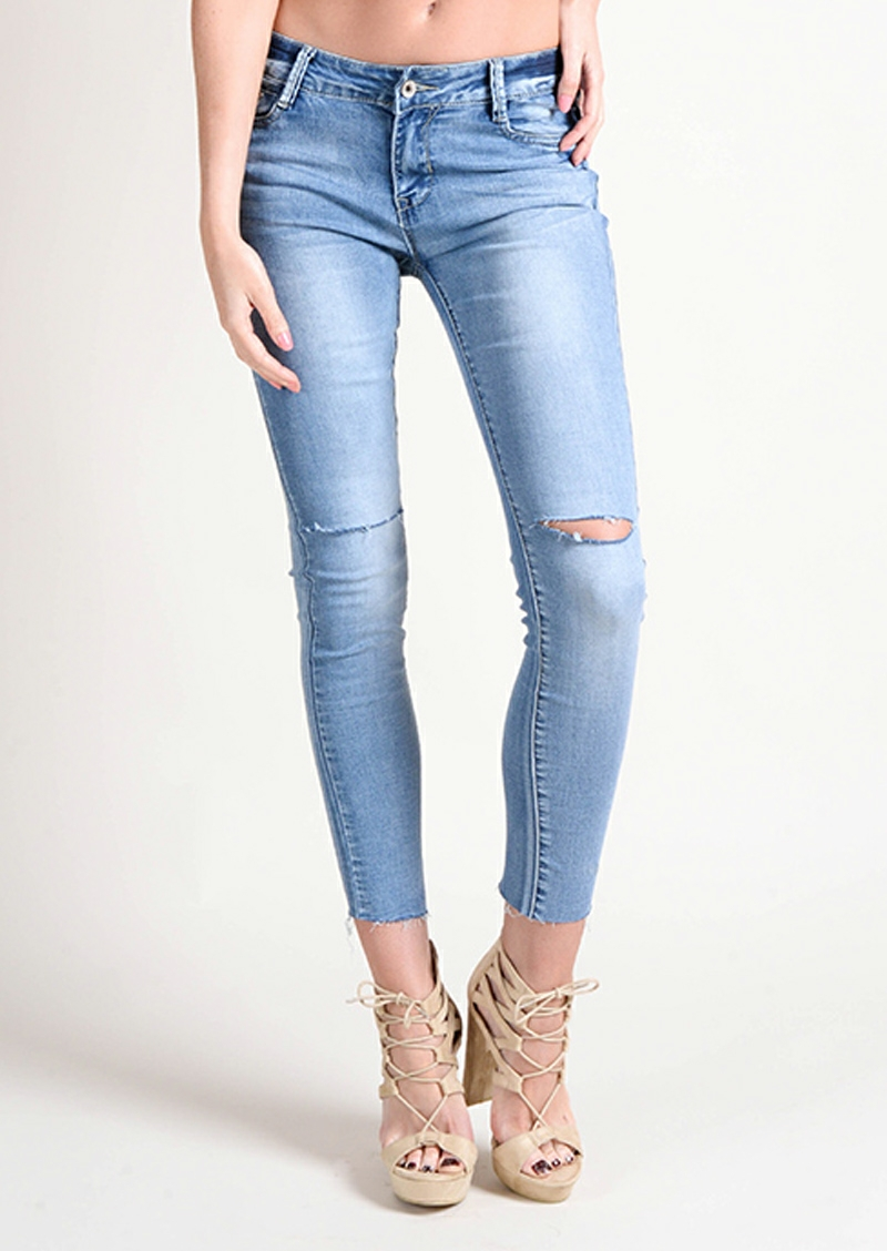 Asensio raw edge croped jeans 3 copy