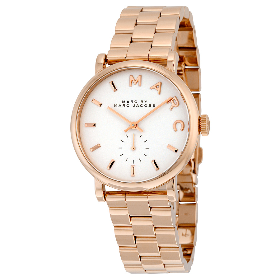 9525c7c500d9 marc by marc jacobs silver dial rose gold tone ladies watch mbm3244 6