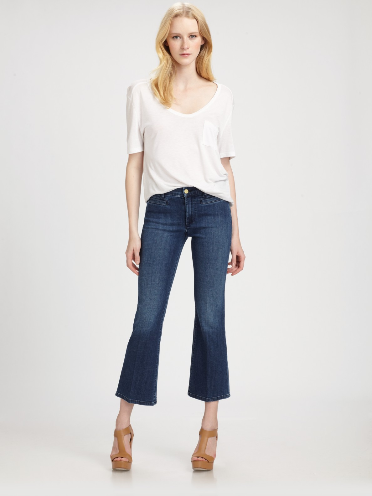 mih jeans blue monaco cropped kick flare jeans product 1 3038217 160210768