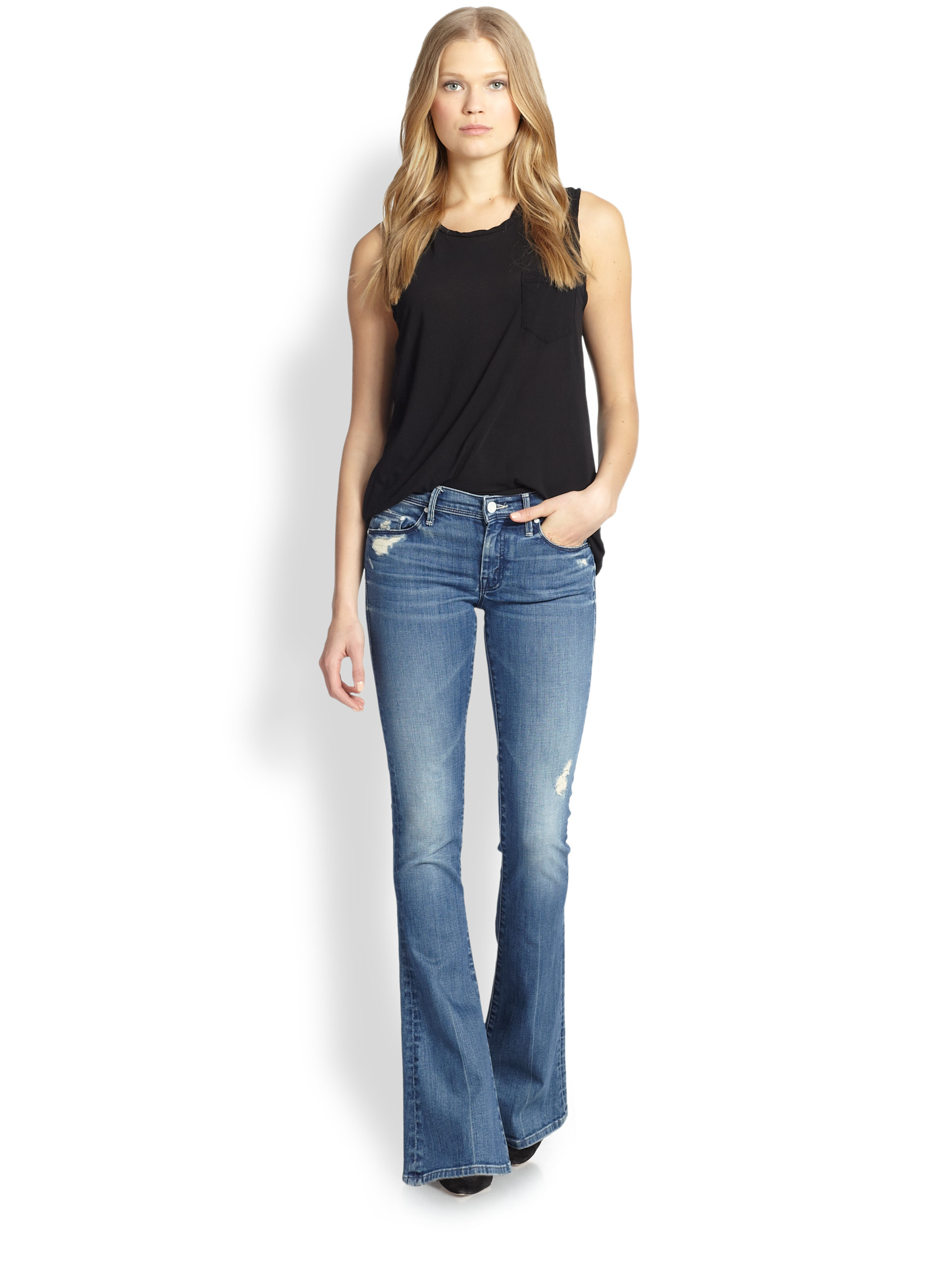 mother the cruiser distressed flared jeans product 1 19270377 2 398711378 normal