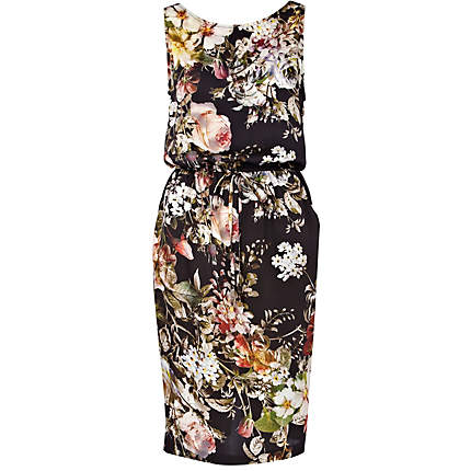 River_Island_Black_Floral_Print_Dress