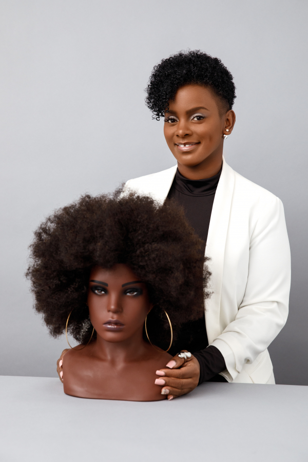Welcome, Ebony! Dionne Smith's revolutionary Afro hair training doll head