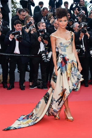 Thandie Newton wears Vivienne Westwood at Cannes 2018 for The Green Carpet Challenge